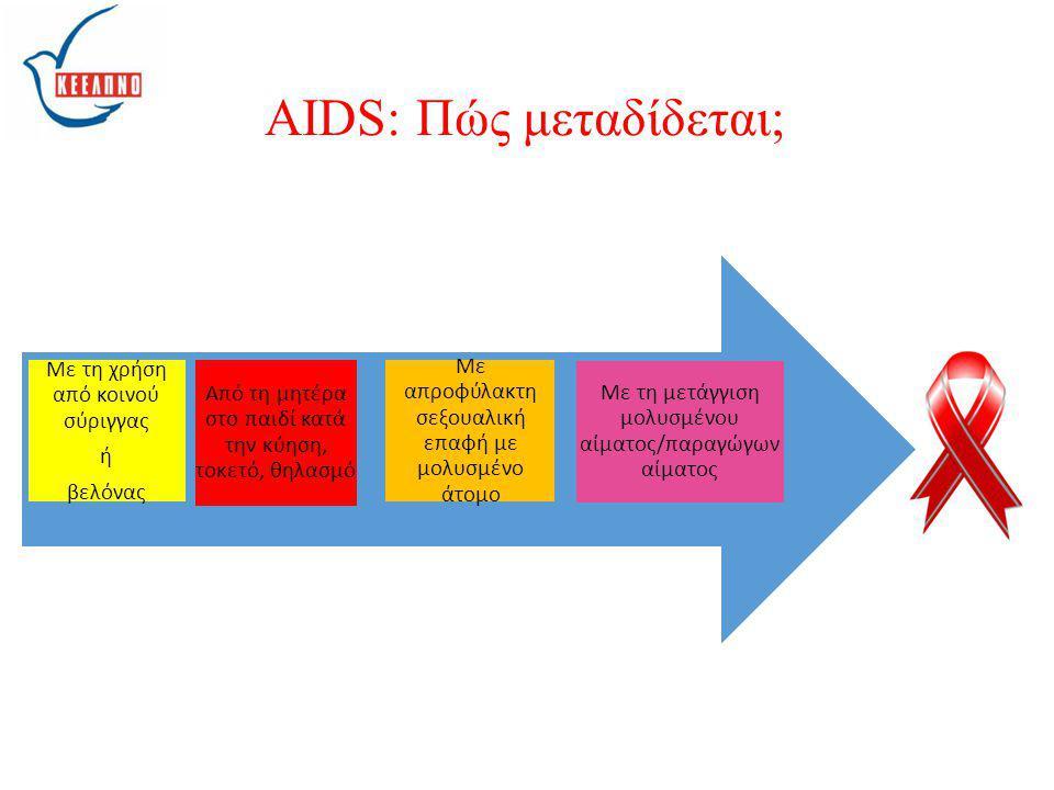 AIDS: Πώς μεταδίδεται;