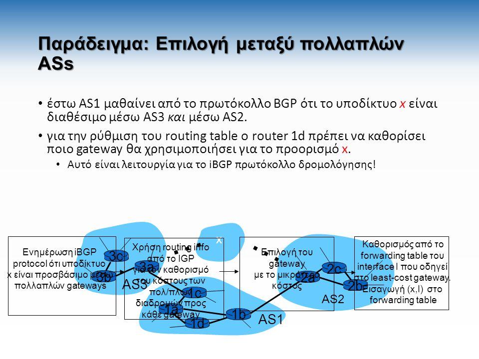 Παράδειγμα: Επιλογή μεταξύ πολλαπλών ASs