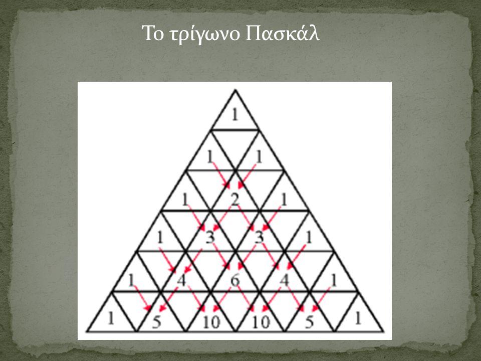Το τρίγωνο Πασκάλ