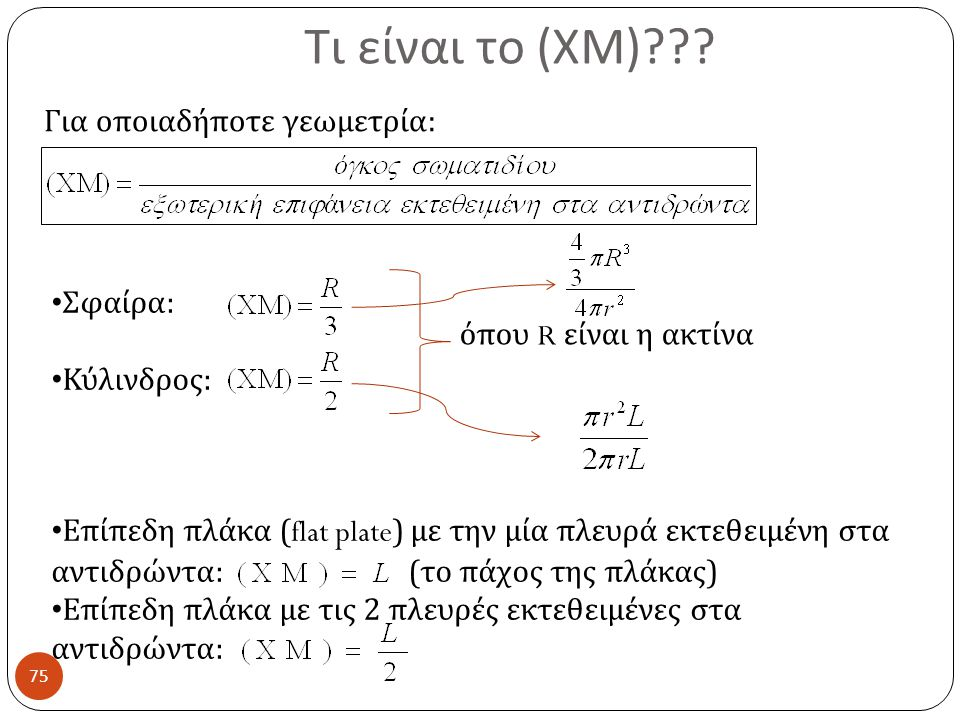 Τι είναι το (ΧΜ) Για οποιαδήποτε γεωμετρία: Σφαίρα: