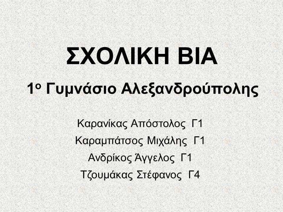 1ο Γυμνάσιο Αλεξανδρούπολης