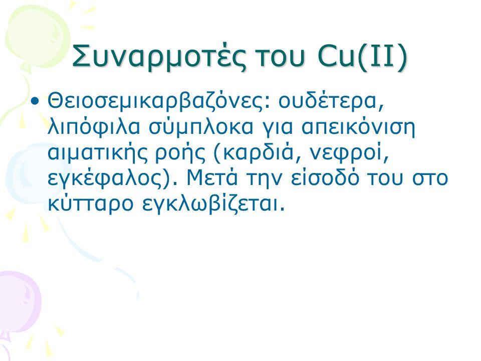 Συναρμοτές του Cu(II)