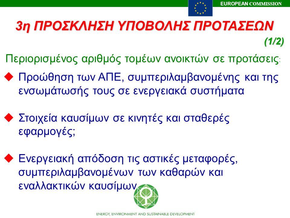 3η ΠΡΟΣΚΛΗΣΗ ΥΠΟΒΟΛΗΣ ΠΡΟΤΑΣΕΩΝ (1/2)