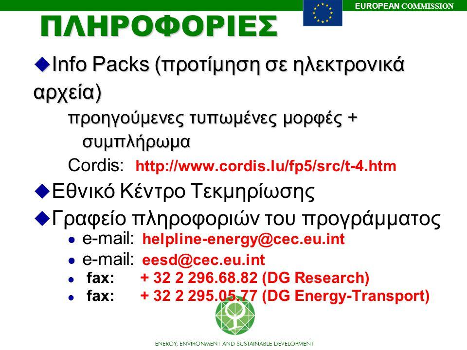 ΠΛΗΡΟΦΟΡΙΕΣ Info Packs (προτίμηση σε ηλεκτρονικά αρχεία)