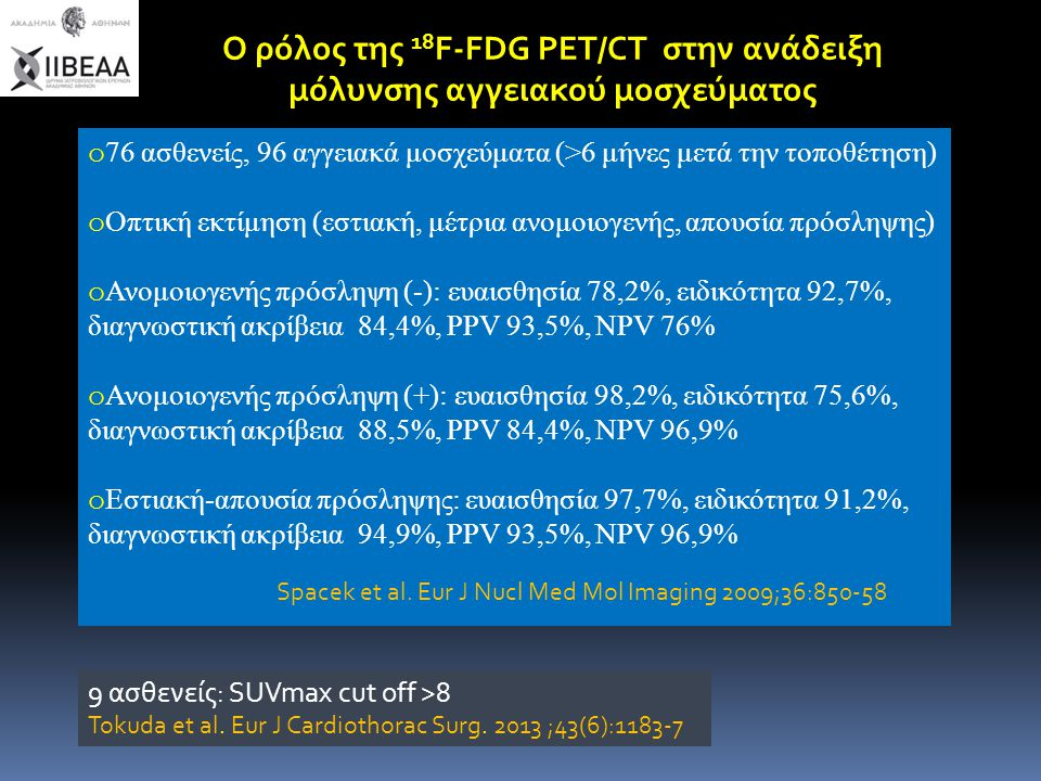 Ο ρόλος της 18F-FDG PET/CT στην ανάδειξη μόλυνσης αγγειακού μοσχεύματος
