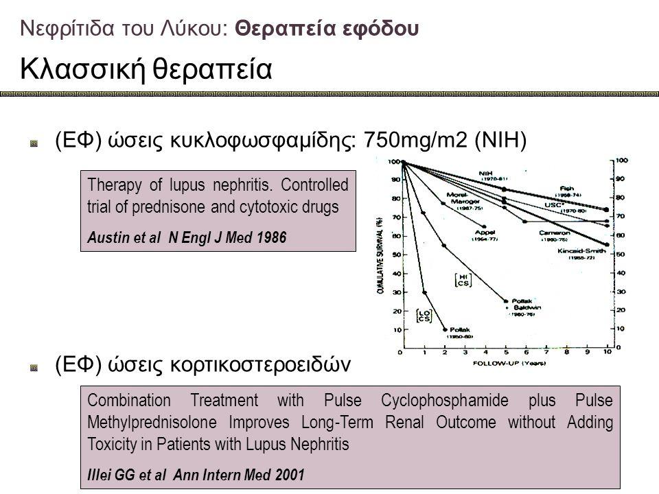 Νεφρίτιδα του Λύκου: Θεραπεία εφόδου Κλασσική θεραπεία