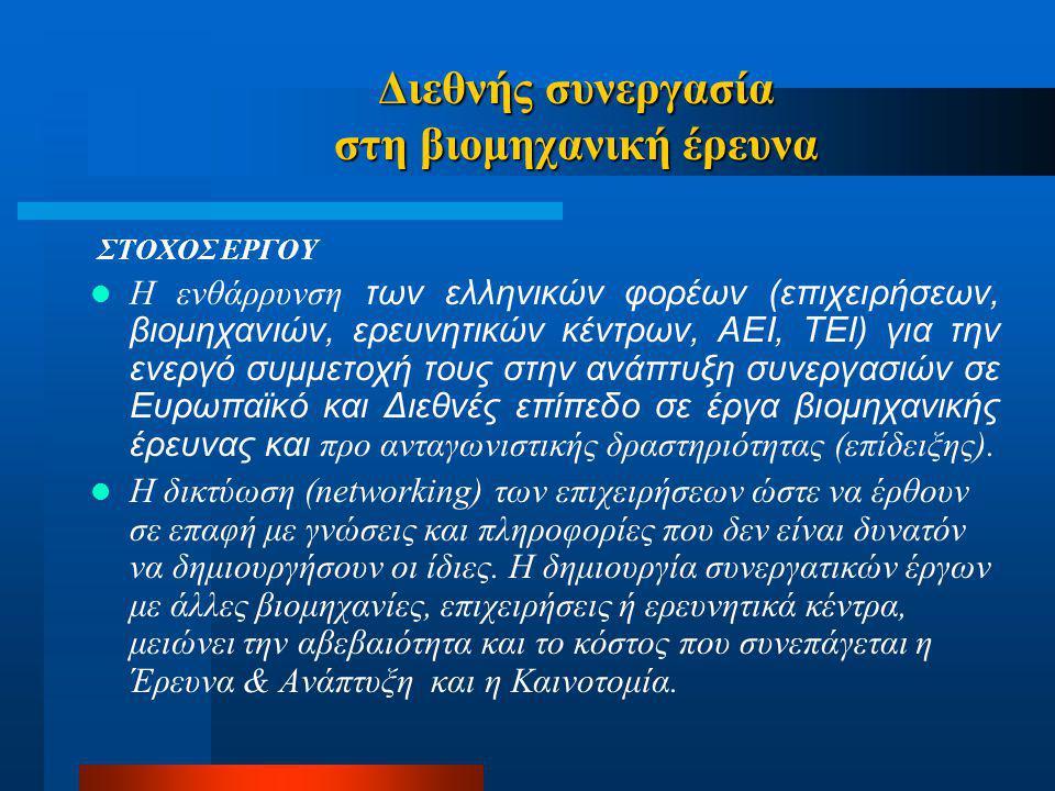 Διεθνής συνεργασία στη βιομηχανική έρευνα