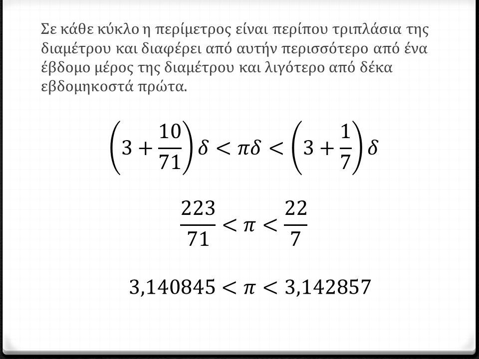 3+ 10 71 𝛿<𝜋𝛿< 3+ 1 7 𝛿 223 71 <𝜋< 22 7