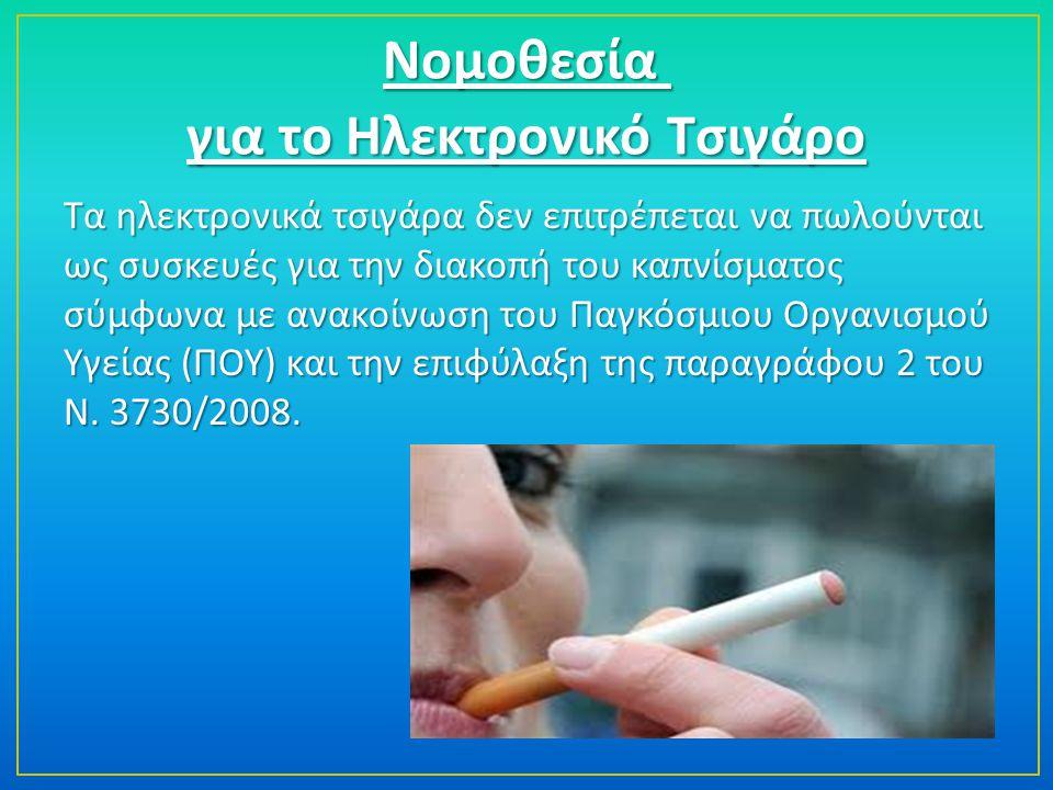 για το Ηλεκτρονικό Τσιγάρο