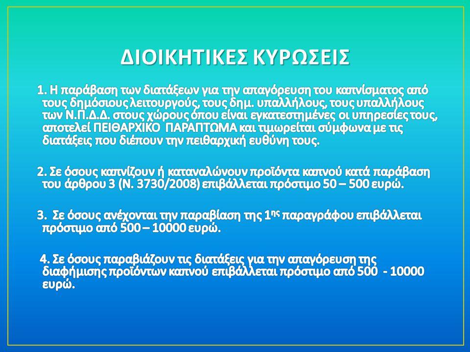 ΔΙΟΙΚΗΤΙΚΕΣ ΚΥΡΩΣΕΙΣ