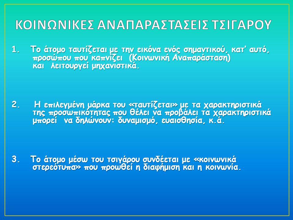 ΚΟΙΝΩΝΙΚΕΣ ΑΝΑΠΑΡΑΣΤΑΣΕΙΣ ΤΣΙΓΑΡΟΥ