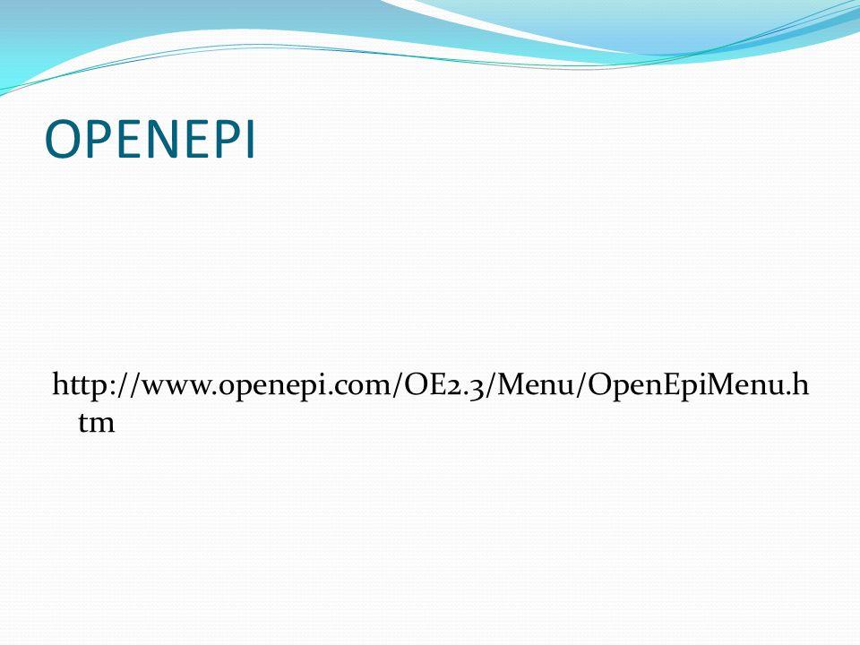 OPENEPI http://www.openepi.com/OE2.3/Menu/OpenEpiMenu.htm