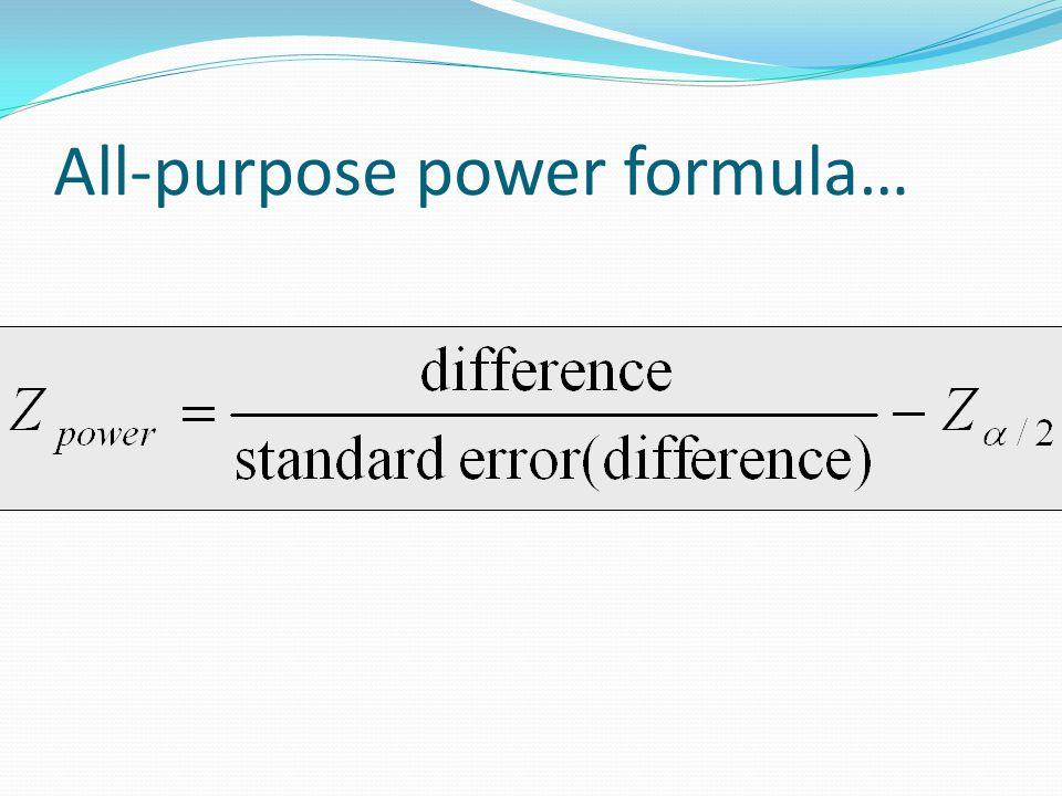 All-purpose power formula…