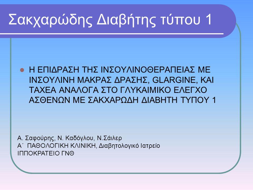 Σακχαρώδης Διαβήτης τύπου 1