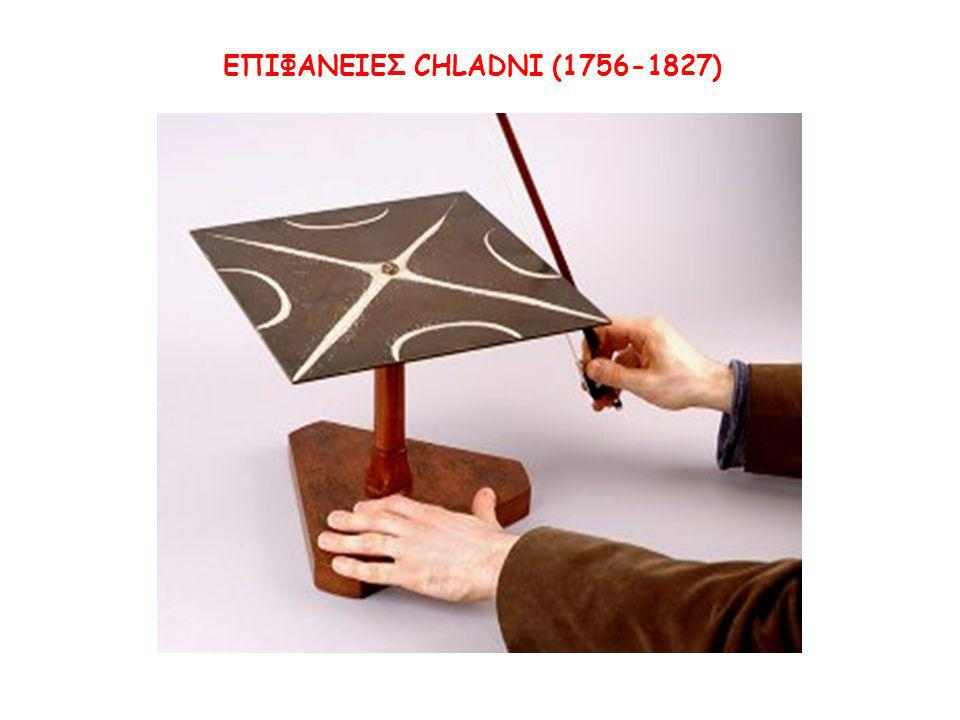 ΕΠΙΦΑΝΕΙΕΣ CHLADNI (1756-1827)