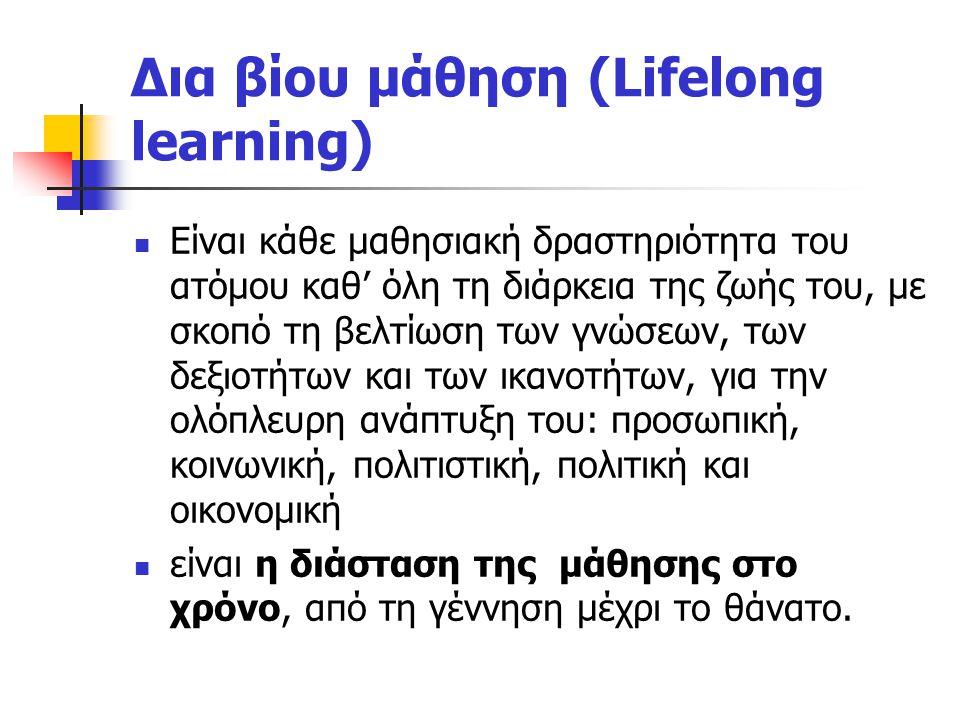Δια βίου μάθηση (Lifelong learning)
