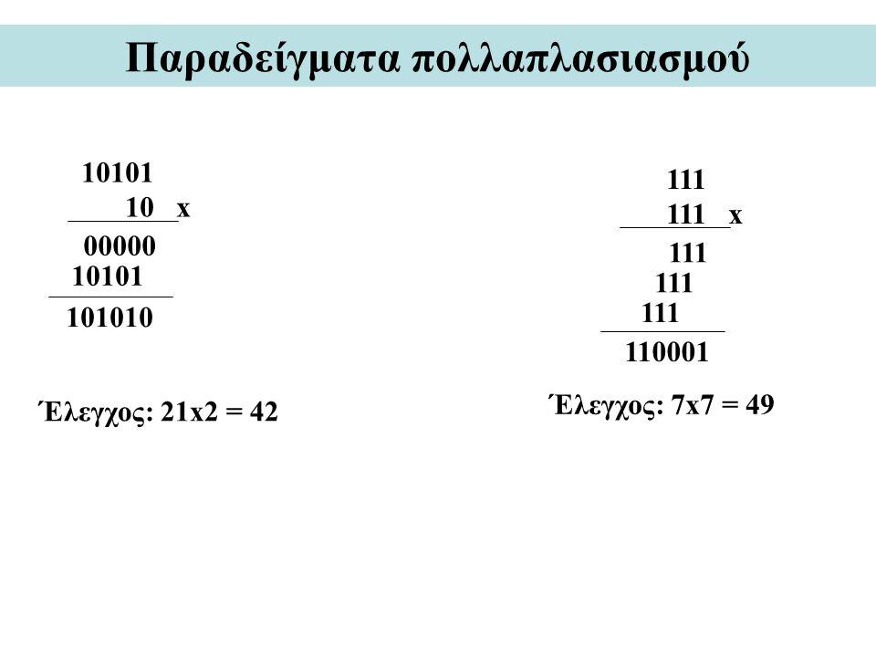 Παραδείγματα πολλαπλασιασμού