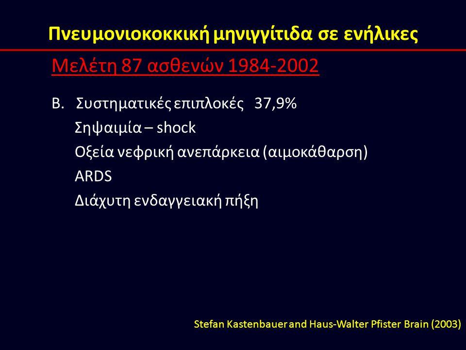 Πνευμονιοκοκκική μηνιγγίτιδα σε ενήλικες