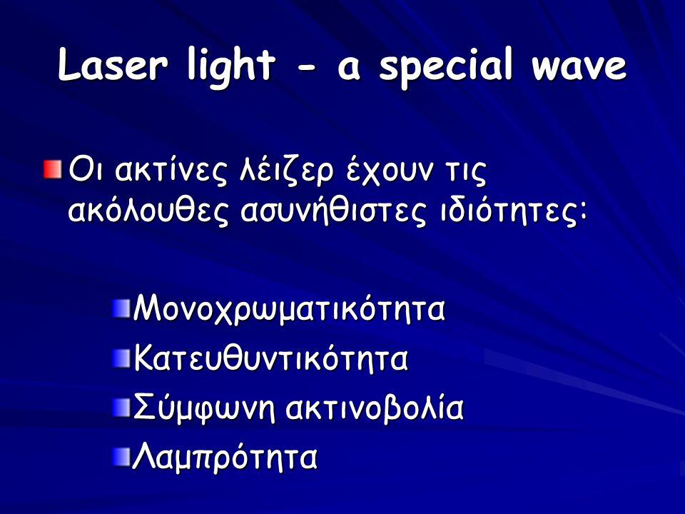 Laser light - a special wave