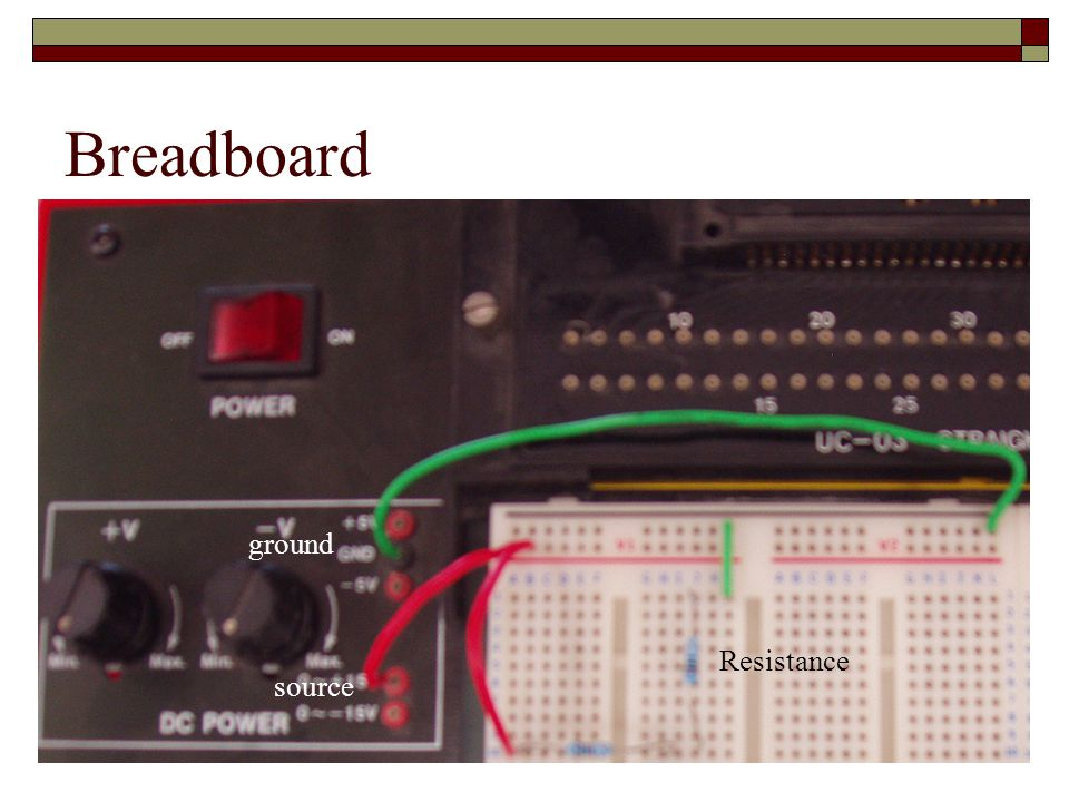 Breadboard ground source Resistance