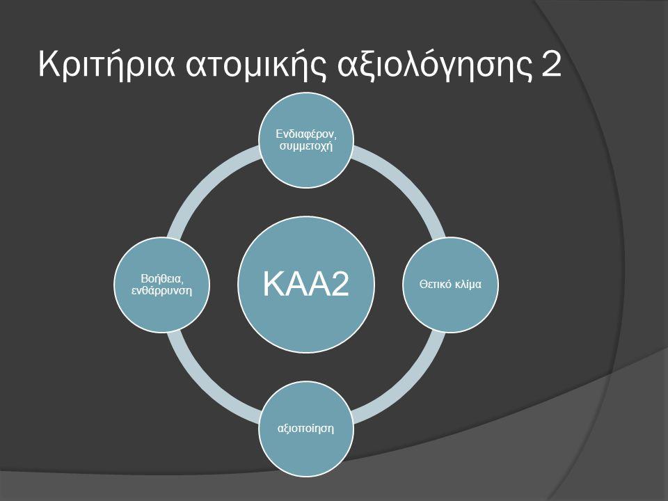 Κριτήρια ατομικής αξιολόγησης 2