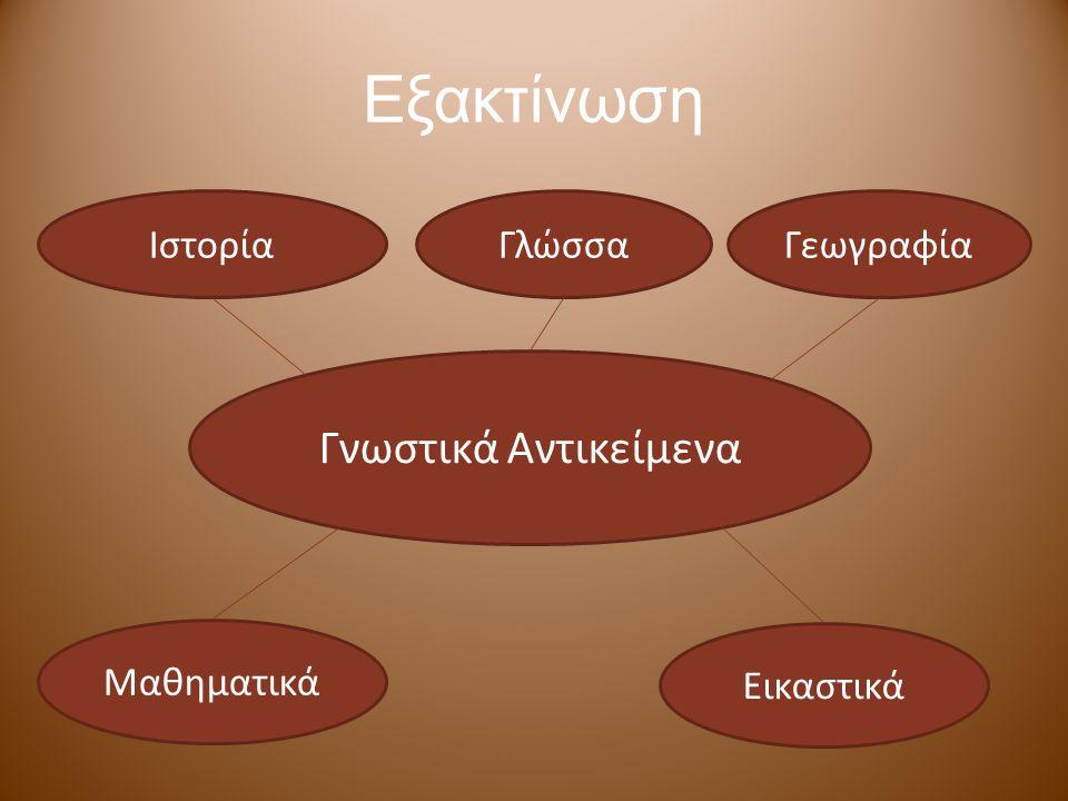 Εξακτίνωση Γνωστικά Αντικείμενα Ιστορία Γλώσσα Γεωγραφία Μαθηματικά