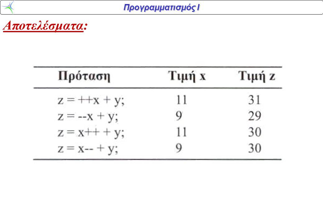 Αποτελέσματα: