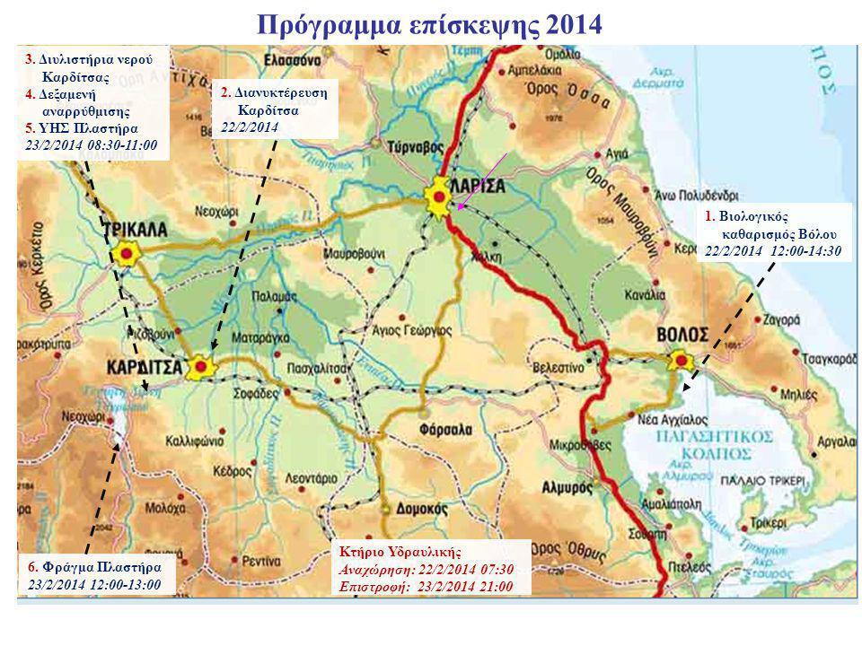 Πρόγραμμα επίσκεψης 2014 3. Διυλιστήρια νερού Καρδίτσας