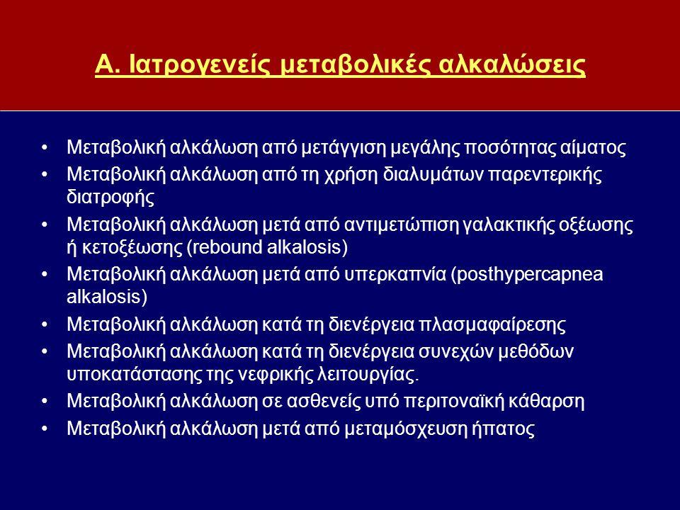 Α. Ιατρογενείς μεταβολικές αλκαλώσεις