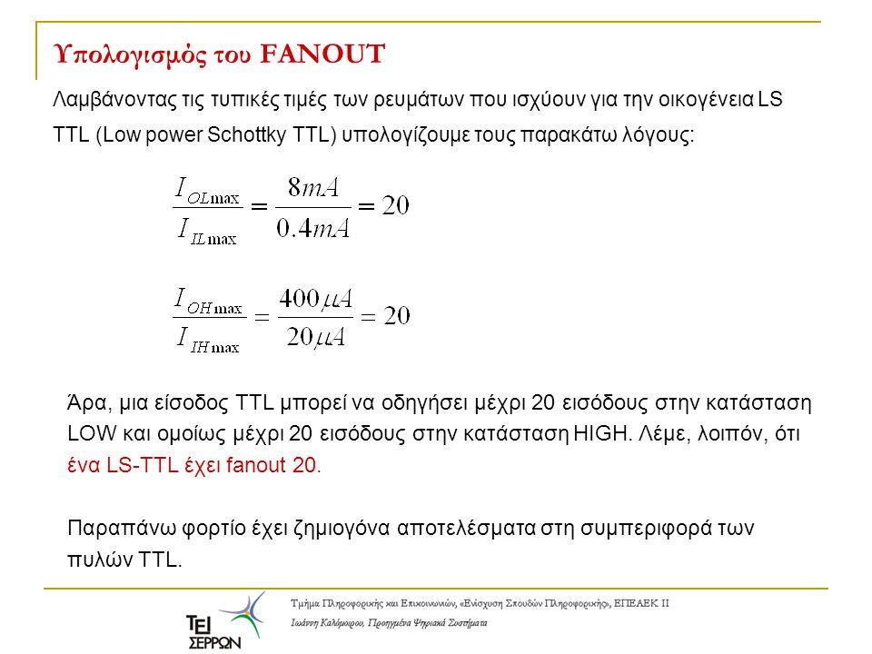 Υπολογισμός του FANOUT