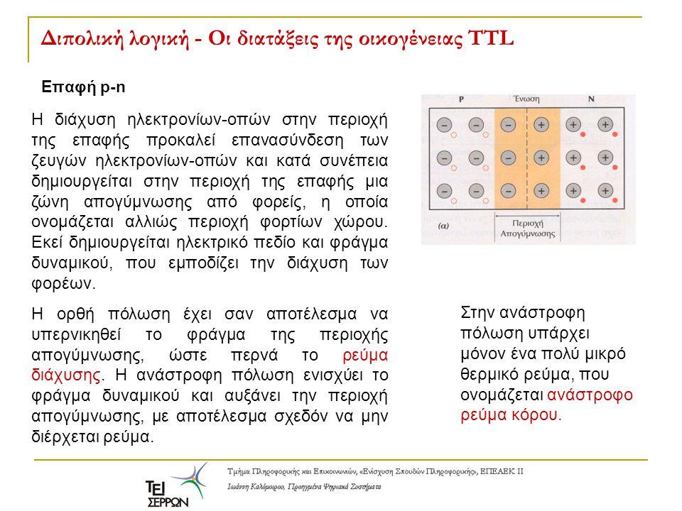 Διπολική λογική - Οι διατάξεις της οικογένειας TTL