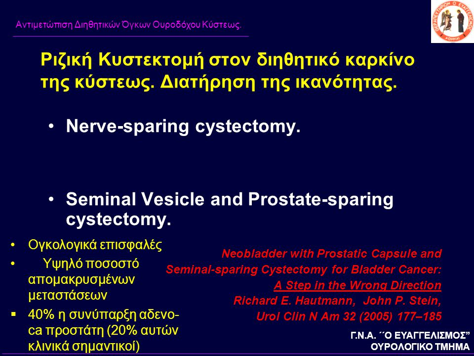 Nerve-sparing cystectomy.