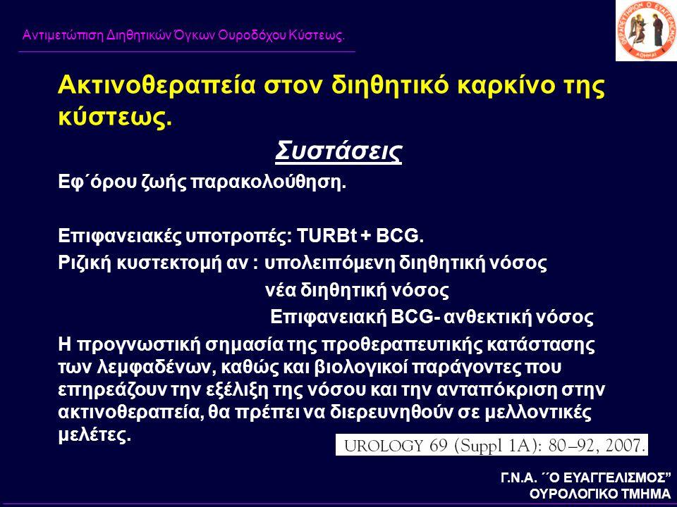 Ακτινοθεραπεία στον διηθητικό καρκίνο της κύστεως.