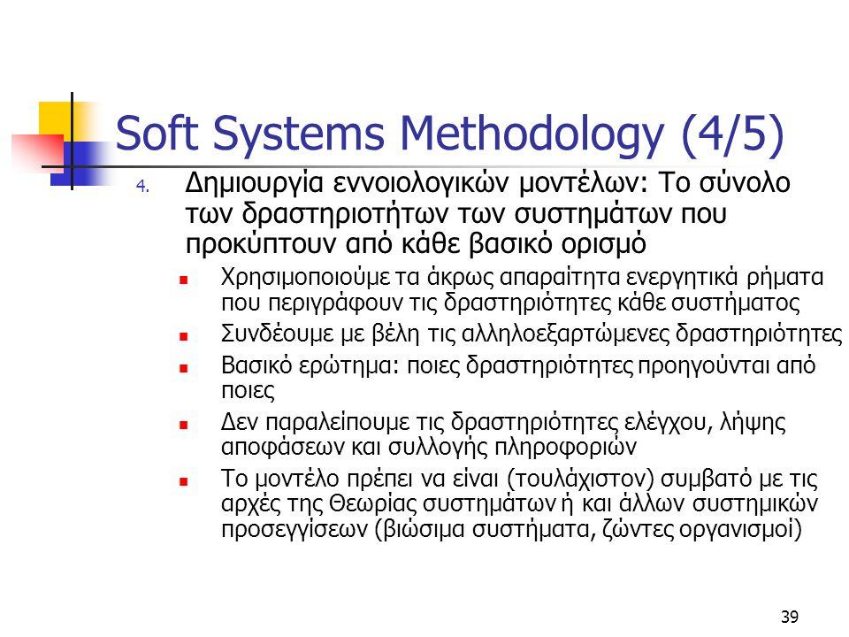 Soft Systems Methodology (4/5)