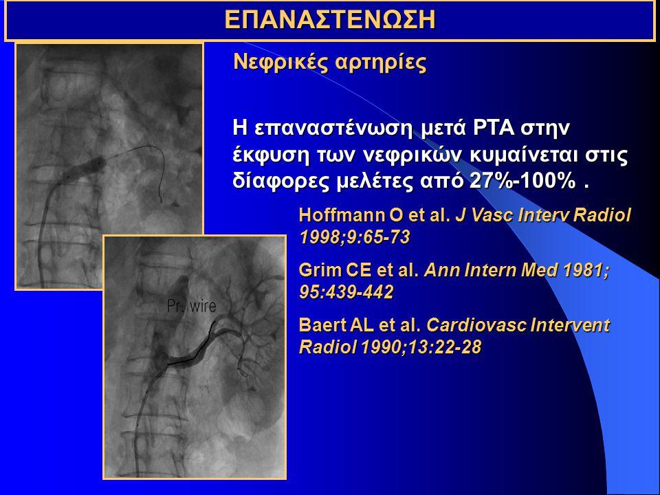 ΕΠΑΝΑΣΤΕΝΩΣΗ Νεφρικές αρτηρίες
