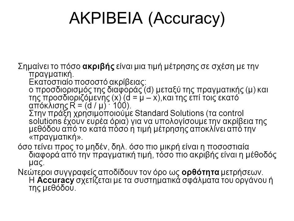 ΑΚΡΙΒΕΙΑ (Accuracy)