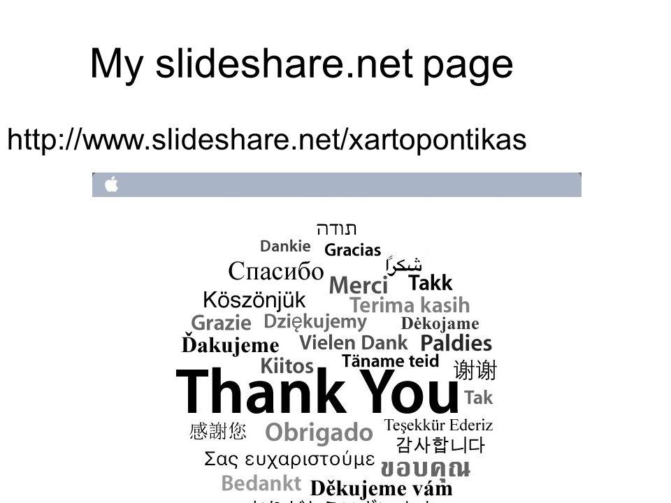 My slideshare.net page http://www.slideshare.net/xartopontikas