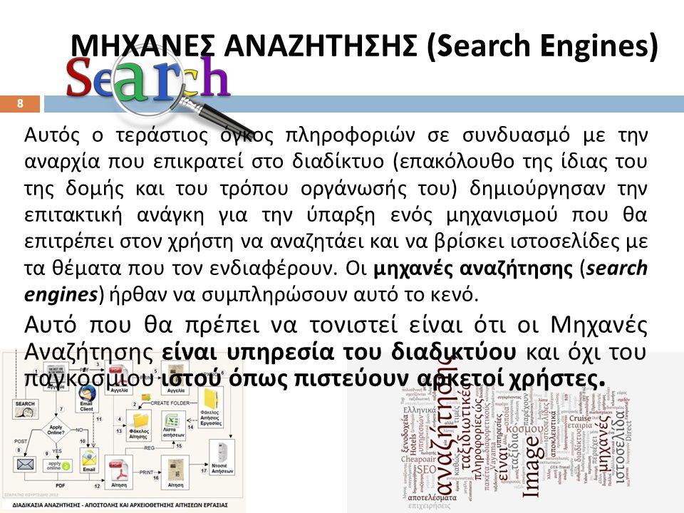 Τι είναι μία μηχανή αναζήτησης και πως λειτουργεί;