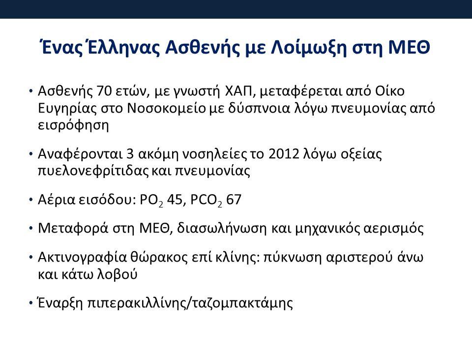 Ένας Έλληνας Ασθενής με Λοίμωξη στη ΜΕΘ