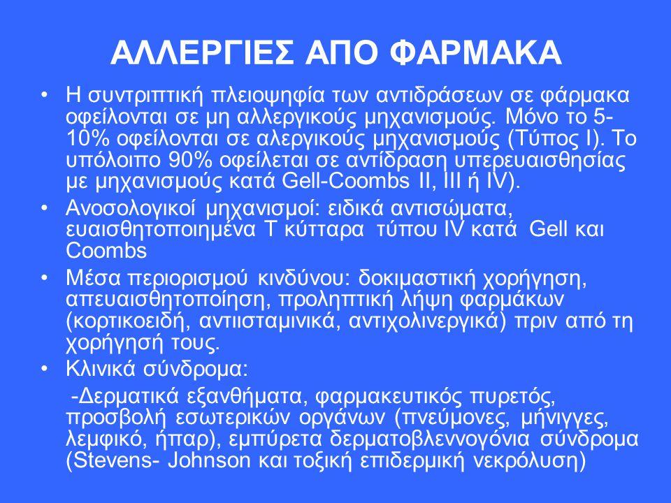ΑΛΛΕΡΓΙΕΣ ΑΠΟ ΦΑΡΜΑΚΑ