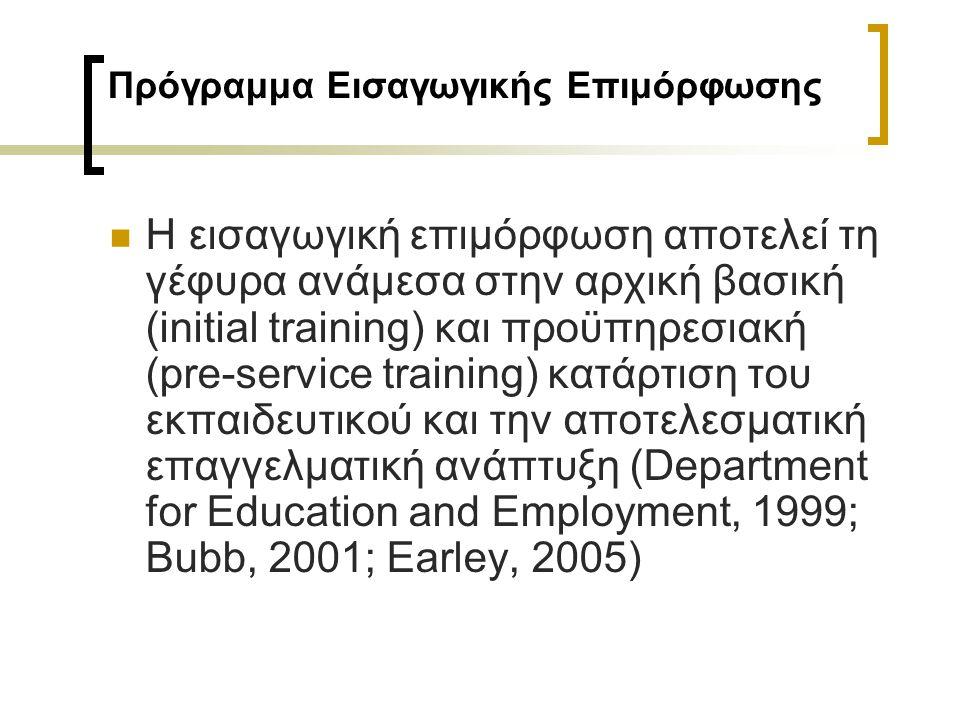 Πρόγραμμα Εισαγωγικής Επιμόρφωσης