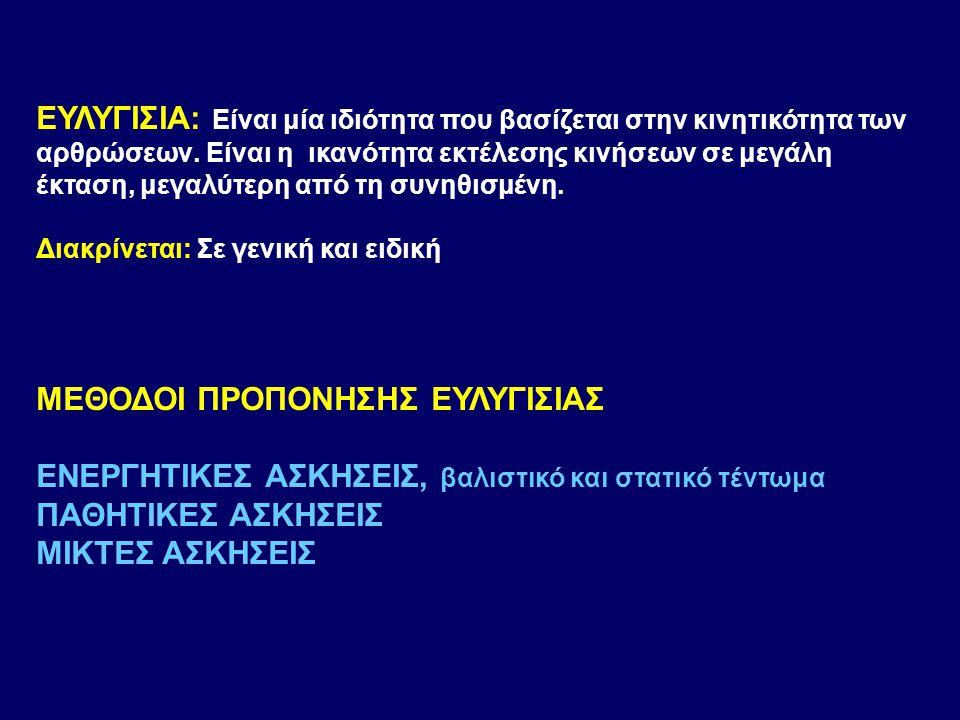 ΜΕΘΟΔΟΙ ΠΡΟΠΟΝΗΣΗΣ ΕΥΛΥΓΙΣΙΑΣ