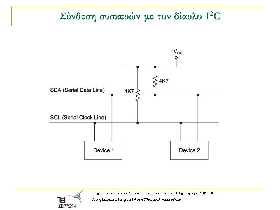 Σύνδεση συσκευών με τον δίαυλο Ι2C