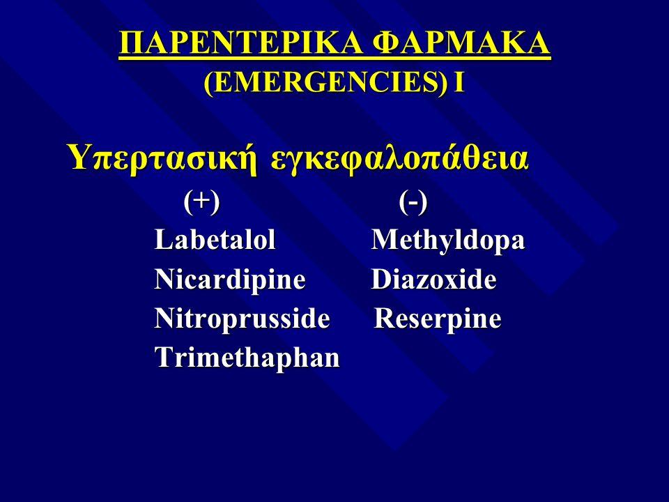 ΠΑΡΕΝΤΕΡΙΚΑ ΦΑΡΜΑΚΑ (EMERGENCIES) I