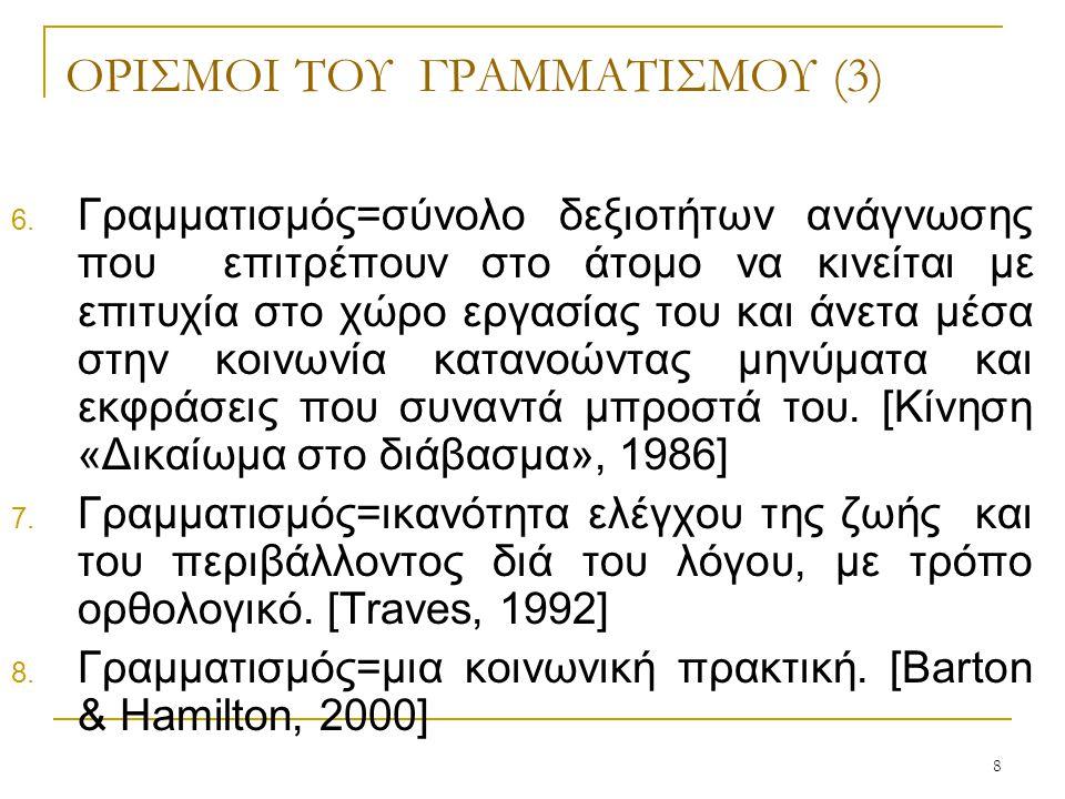 ΟΡΙΣΜΟΙ ΤΟΥ ΓΡΑΜΜΑΤΙΣΜΟΥ (3)