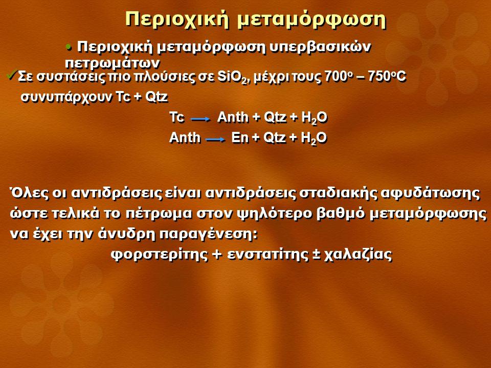 φορστερίτης + ενστατίτης ± χαλαζίας