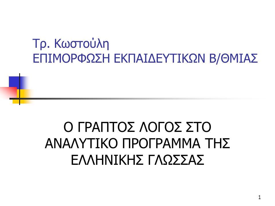 Τρ. Κωστούλη ΕΠΙΜΟΡΦΩΣΗ ΕΚΠΑΙΔΕΥΤΙΚΩΝ Β/ΘΜΙΑΣ
