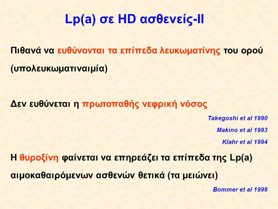 Lp(a) σε HD ασθενείς-ΙΙ