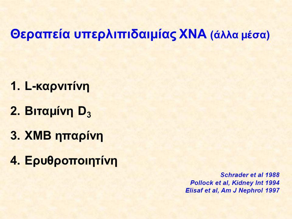 Θεραπεία υπερλιπιδαιμίας ΧΝΑ (άλλα μέσα)