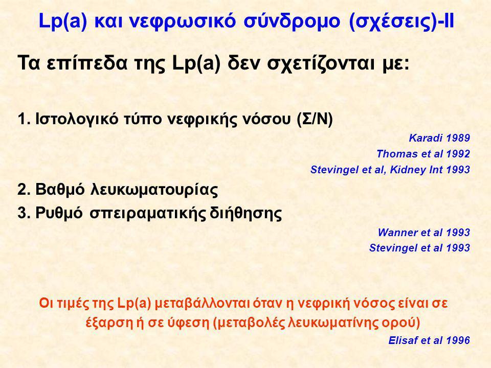 Lp(a) και νεφρωσικό σύνδρομο (σχέσεις)-II